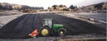 Tilling petroleum contaminated soils.